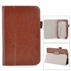 Flip-open PU Leather Case w/ Stand + Pen Holder for Samsung Galaxy Tab 3 Lite T110 / T111