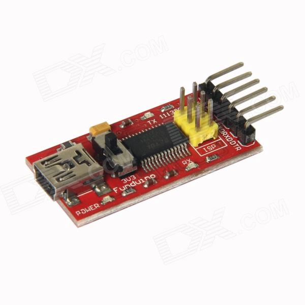 ChuangZhuo FT232RL USB to 6-Pin Serial Port Adapter Module Converter Downloader for Arduino - Red