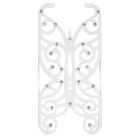 Hollowed Butterfly Style ABS Back Case for IPHONE 5 / 5S - White + Silver