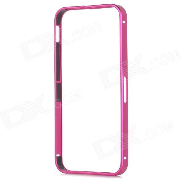 S-What Protective Metal Bumper Frame for IPHONE 5 / 5S - Deep Pink s what protective metal bumper frame for iphone 5 5s deep pink