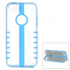 MYCOVER Protective PC + Silicone Case for IPHONE 5 / 5S - Golden + Transparent