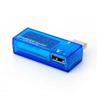 USB oplader Doctor Current Voltage Detector-Translucent blauw + zilveren