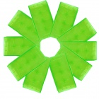 CM01 Professional High Quality PVC CR2 / 18650 / 17670 / 16340 Battery Case Box - Green (10PCS)