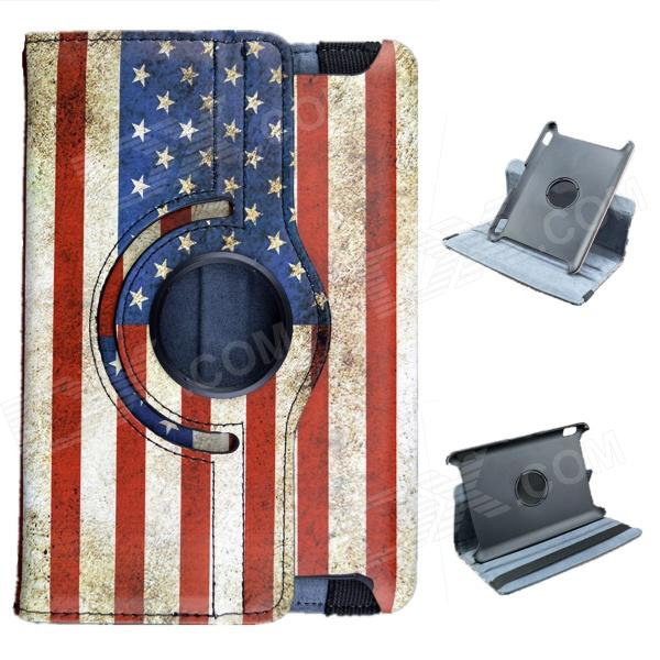 American Flag Pattern 360 Degree Rotation PU Leather Case Cover Stand for Amazon Kindle Fire HD 7 levett caesar prostate massager for 360 degree rotation g spot