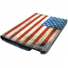 American Flag Pattern 360 Degree Rotation PU Leather Case Cover Stand for Amazon Kindle Fire HD 7""