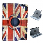 "British Flag 360 Degree Rotation PU Leather Case Cover Stand for Amazon Kindle Fire HD 7"" - Red"
