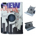 Statue of Liberty Pattern 360' Rotation PU Leather Case Cover Stand for Amazon Kindle Fire HD 7""