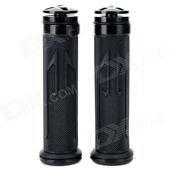 Universal DIY 22mm Aluminum Alloy + PC Motorcycle Handlebar Grips - Black (2 PCS) mz short universal aluminum alloy motorcycle handlebar ends caps plugs golden pair