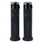 Universal DIY 22mm Aluminum Alloy + PC Motorcycle Handlebar Grips - Black (2 PCS)