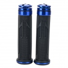Universal DIY 22mm Aluminum Alloy + PC Motorcycle Handlebar Grips - Blue + Black (2 PCS)
