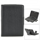 PU Case w/ Detachable USB 2.0 Bluetooth V4.0 64-Key Keyboard for Samsung Galaxy Tab 10.1 - Black