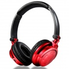 H2 Bluetooth V2.1 + EDR Headphone w/ Micro USB / Stereo / Earphone / Mic / 3.5mm Jack - Red + Black