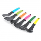 Creative Kitchen 7-in-1 Nylon Spoons Spatula Set w/ Stand - Black + Multicolored