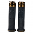 Universal DIY 22mm Aluminum Alloy + PC Motorcycle Handlebar Grips - Coppery + Black (2 PCS)