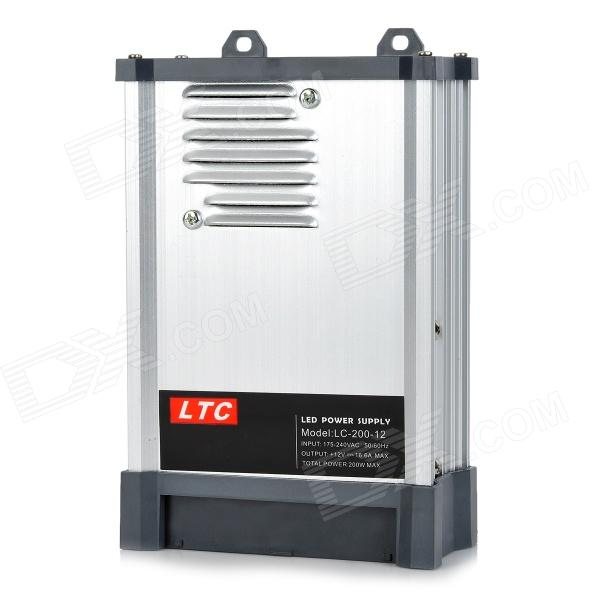 LTC LC-200-12 Rainproof High Efficiency 175~240V to 12V 16.6A 200W Switch Power Supply - Silver ltc lc 12 250w energy efficient rain proof switching led power supply silver black 175 240v