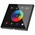 08E 3-CH LED RGB Light Strip Touch Panel Controller - Black (DC 12~24V)