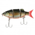 Trulinoya DW25-C Multi Jointed Fishing LIFE-LIKE Lure Bait Fishing Lure w/ 2 VMC Hook - (80mm / 10g)