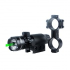 ESDY-LS01 Aluminum Alloy 5mw Green Laser Rifle Scope Gun Sight - Black (1 x CR123A)