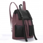Casual Fashion Double Pocket Decorative Backpack - Red