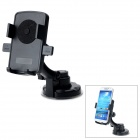 159-068 360 Degree Rotary Car Mobile Phone GPS Mount Holder - Black