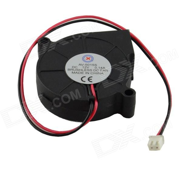 AV-0.14A 12V 2-Pin HDD 30-Blade Cooling Fan - Black cooling fan replacement d12bm 12d 4 pin connector pwm 12038 12v 2 3a 6000rpm for antminer bitmain s7 s9 useful