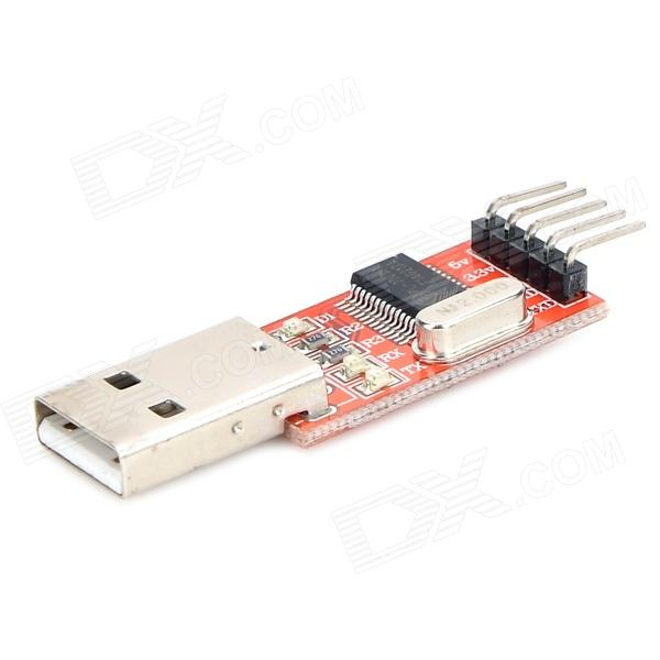 LSON RL2303 USB to TTL Serial Board STC Microcontroller Module - Red + Black