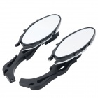 SL-035 Flame Style Rearview Mirror - Black + Silver (2 PCS)