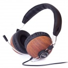 OYK OM100 USB 2.0 Wired Headband Stereo Headphone w/ Microphone for Gaming PC - Black Blue + Brown