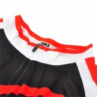 CHEJI GL-01 Outdoor Cycling Polyester Short-Sleeve Jersey + Shorts for Men - Red + Black (XL)