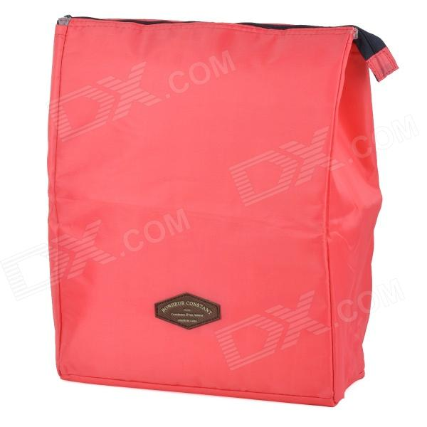 Creeper Outdoor Oxford Insulation Lunch Bag for Picnic - Deep Pink (15L)