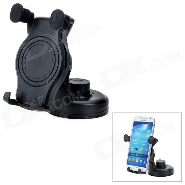 066-067 360 Degree Rotary Car Mout Holder for Mobile Phone / GPS - Black