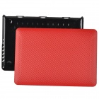 "bta Protective Carbon Fiber PC Case for Apple MacBook Pro Retina 13.3"" - Black + Red"