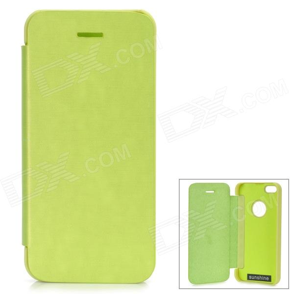 Protective Aluminum Alloy + PU Case for IPHONE 5S / 5 - Green - DXLeather Cases<br>Protects your device from scratches shock and dust; Allows access to all interfaces w/o removing the case; Convenient to use.<br>