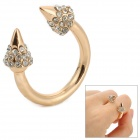 UBE UTY 8002 Stylish Zinc Alloy Open Ring - Golden + White