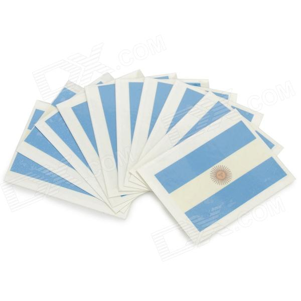 Argentina Flag Style Body Paper Stickers - Blue + White (10 PCS)