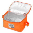 Creeper Outdoor Oxford + Aluminum Film Warm / Cool Insulation Shoulder Bag - Orange
