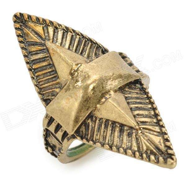 JUQI Stylish Sharp Zinc Alloy Ring - Antique Brass