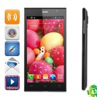 "JIAKE JK13 Dual-core Android 4.2.2 WCDMA Bar Phone w/ 5"" Screen, Wi-Fi and GPS - Black"