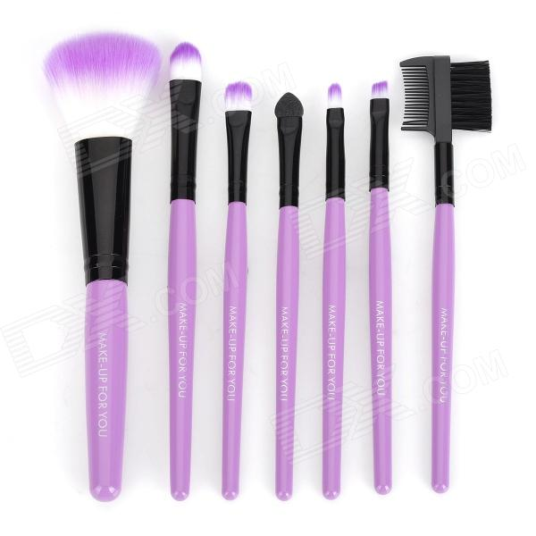 MAKE-UP FOR YOU Portable Cosmetic Makeup 7-in-1 Brushes Set - Purple