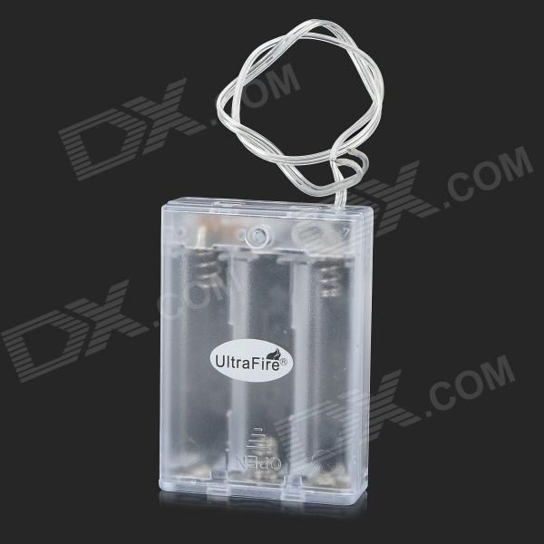 UltraFire MMT-11 Series 3 x AA Battery Box w/ Switch - Transparent (Cable-29cm)