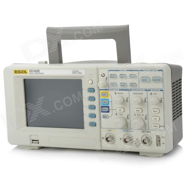 RIGOL DS1052E 5.6 TFT LCD 50MHz 2-Channel Digital Color Storage Oscilloscope hantek6254bd oscilloscope 4 channels 6254bd arbitrary waveform generator 250mhz bandwidth powered by usb2 0 interface