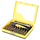 9171 53-in-1 Multifunctional Precision Screwdriver Set - Black + Yellow + Multi-Colored