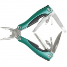 Pro'skit MS-525 9-in-1 Multi-Tool Aluminum Alloy Clamp - Green + Silver