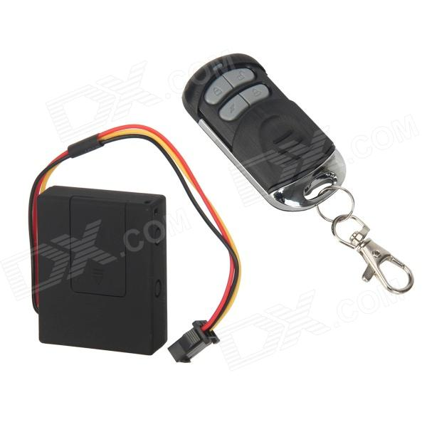 RF-V10 GSM Vehicle Locator & Alarm w/ Remote Controller - Black