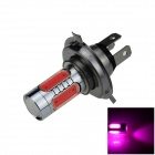 H4 7.5W 400lm 5-LED Pink Purple Light Car Foglight / Headlamp / Tail Light (12~24V)