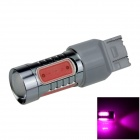 7443 / 7440 / T20 7.5W 400lm 5-LED Pink Purple Car Steering Light / Turn Signal Lamp (12~24V)