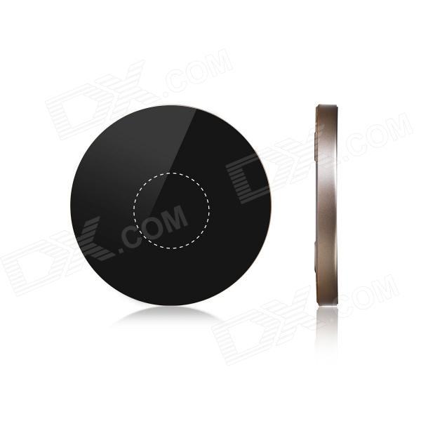 MOCREO Portable Qi Standard Wireless Charger Mobile Power Charging Pad for Smart Phones - Black t2 mini qi wireless charger pad for lg e960 google nexus 4 2g nokia lumia 920 white black