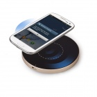 MOCREO Portable Qi Standard Wireless Charger Mobile Power Charging Pad for Smart Phones - Svart