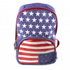 Dark Violet American Flag Shoulder Bag Backpack