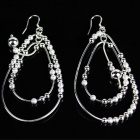 925 Egg Shaped Bead Women's Earrings - Silver